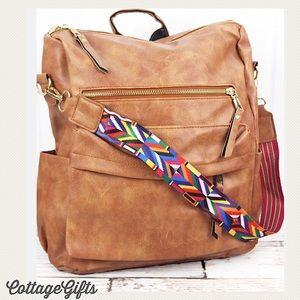 🆕Camel/Tan Vegan Leather Backpack NGIL